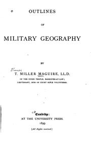 Cover of: Outlines of military geography