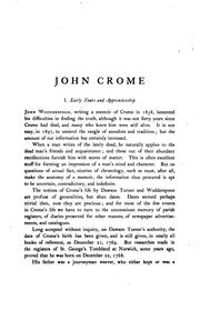 Cover of: John Crome and John Sell Cotman