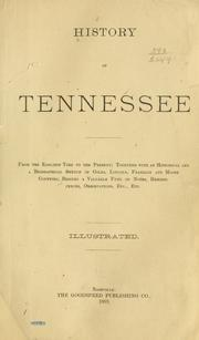 Cover of: History of Tennessee | besides a valuable fund of notes, reminiscences, observations, etc., etc.
