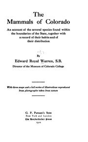 Cover of: The mammals of Colorado
