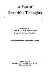 Cover of: A year of beatuiful thoughts | Jeanie Ashley Bates Greenough