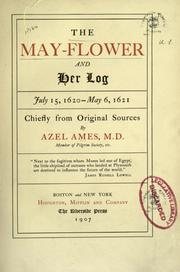 Cover of: The May-flower and her log by Azel Ames