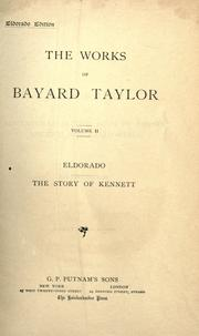 Cover of: Eldorado ; The story of Kennett