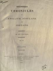 Cover of: Chronicles of England, Scotland and Ireland