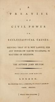Cover of: A treatise of civil power in ecclesiastical causes