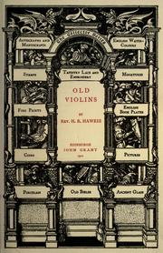 Cover of: Old violins