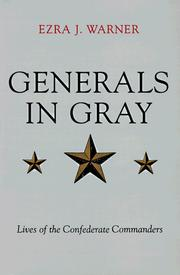 Cover of: Generals in Gray Lives of the Confederate Commander