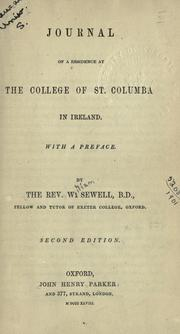 Cover of: Journal of a residence at the college of St. Columba in Ireland