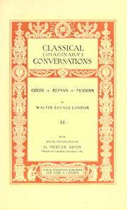 Cover of: Classical (imaginary) conversations