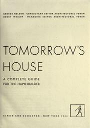 Cover of: Tomorrow's house by Nelson, George