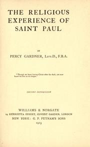 Cover of: The religious experience of Saint Paul