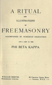 Cover of: A ritual and illustrations of freemasonry by Avery Allyn