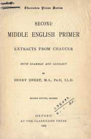 Cover of: Second Middle English primer | Sweet, Henry