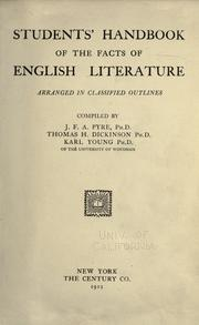 Cover of: Students' handbook of the facts of English literature arranged in classified outlines