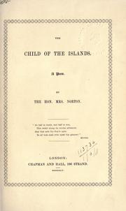 Cover of: The Child of the Islands, a poem