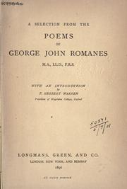 Cover of: A selection from poems