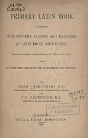 Primary Latin book by Adam Carruthers