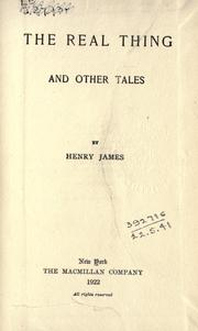 the real thing henry james