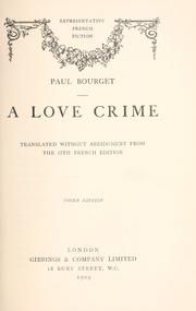 Cover of: A love crime
