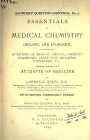 Cover of: Essentials of medical chemistry, organic and inorganic ..