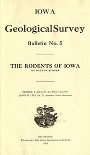 Cover of: The rodents of Iowa