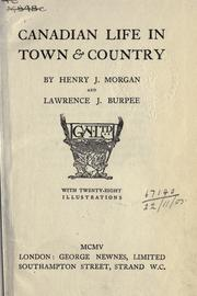 Cover of: Canadian Life In Town And Country