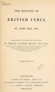 The history of British India by Mill, James
