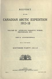Reports by Canadian Arctic Expedition (1913-1918)