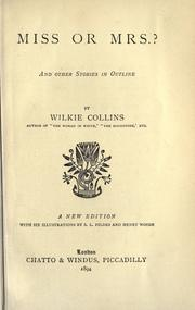 Cover of: Miss or Mrs.?, and other stories in outline