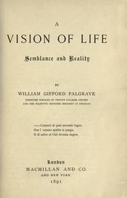 Cover of: A vision of life