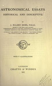 Cover of: Astronomical essays