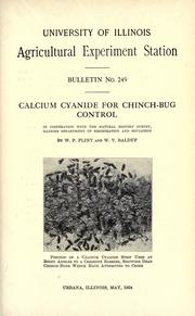 Cover of: Calcium cyanide for chinch-bug control