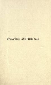 Cover of: Evolution and the war