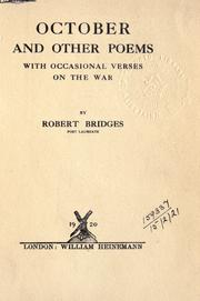 Cover of: October and other poems, with occasional verses on the war
