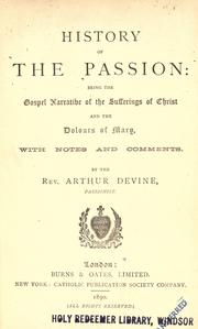 Cover of: History of the Passion