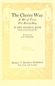 Cover of: The cheery way: a bit of verse for every day