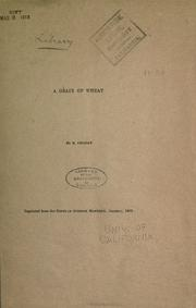 Cover of: A grain of wheat