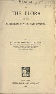 Cover of: Manual of the flora of the northern states and Canada