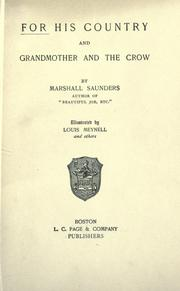 Cover of: For his country, and Grandmother and the crow