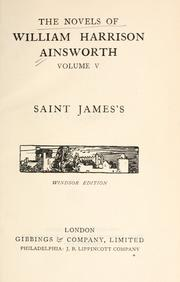 Cover of: The novels of William Harrison Ainsworth