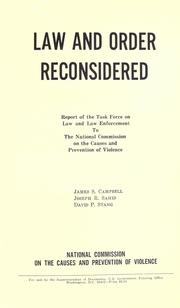 Cover of: Law and order reconsidered | James Sargent Campbell
