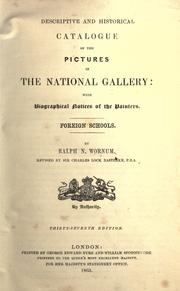 Cover of: Descriptive and historical catalogue of the pictures in the National Gallery