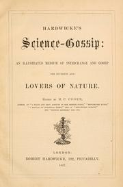 Cover of: Hardwicke's Science-Gossip by edited by M. C. Cooke
