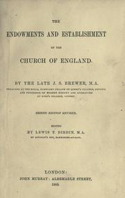 Cover of: The endowments and establishment of the Church of England