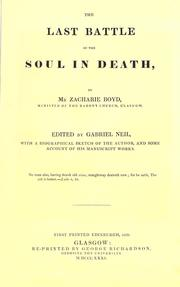 Cover of: The last battle of the soul in death