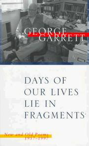 Cover of: Days of our lives lie in fragments