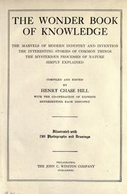 Cover of: The wonder book of knowledge | Henry Chase Hill
