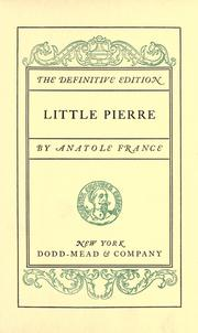 Cover of: Little Pierre