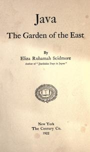 Cover of: Java: the garden of the East