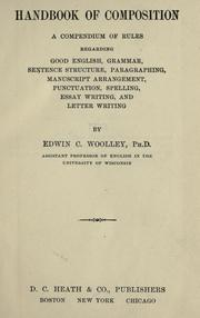 Cover of: Handbook of composition